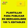 Plantillas Para Publicar Mercadolibre 100% Editables