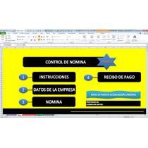 Nomina Con Recibo De Pago,plantilla En Excel