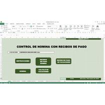 Nomina Con Recibo De Pago,en Excel