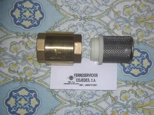 Valvulas Check 1 Pulgadas Con Filtro Y Valvulas De Bolas
