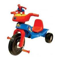 Triciclo De Spiderman Importada Kiddielan Sonidos Luces Nuev
