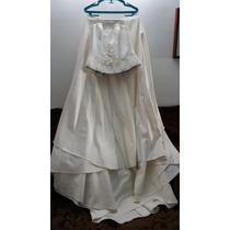 Vestido De Novia De Diseñador Roy Kandhaya Talla M
