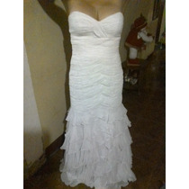 Vestido De Novia Blanco Sin Cola Usadoooo