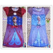 Frozen Elsa & Anna Vestidos-camisones Importados 2-9 Años
