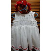 Bello Vestido Para Bautizo O Fiestas Para Niña De 1 A 2 Años