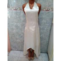 Vestido Formal Tela Seda Para Bautizo Boda Matrimonio