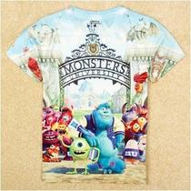 Monster University Franela 3d 100% Cotton Talla 18-24 Meses