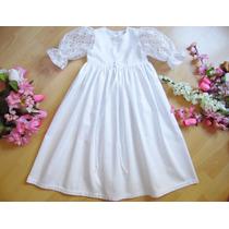 Vestido De Bautizo Para Niñas Blanco 0-18 Meses