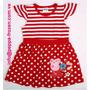 Peppa Pig Vestido Rojo Raya/punto Talla 2t