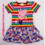 Peppa Pig Vestido Rayas De Colores Talla 2t