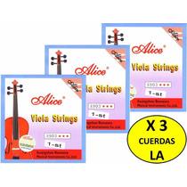X 3 Cuerdas (la) 1era Para Viola Alice A903 Nuevas