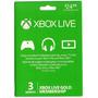 Xbox Live 3 Meses Membresia De Oro