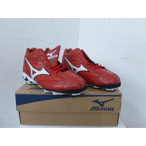 Zapatos Tacos Beisbol Softbol Mizuno Spike Franchise Rojo