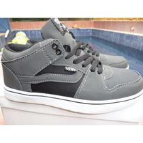 Zapatos Vans 889 Gris Originales Semi Cuero Piel De Durazno