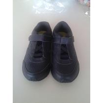 Zapato Escolar Deportivo Talla 31 Blanco Y Negro