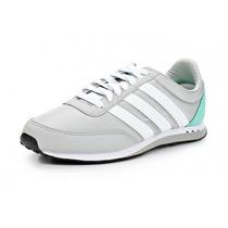 Zapatos Deportivos Adidas V Racer Nylon Para Damas Original