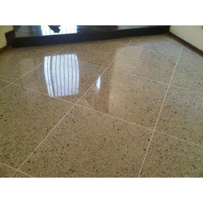 Cristalizado y vaciado de piso de granito en mercado libre for Pisos de granito blanco