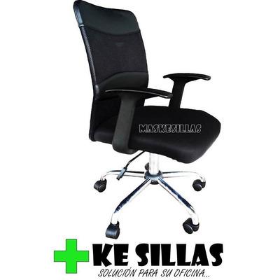 Silla ejecutiva ergon mica novo moscu en tela negra nueva for Sillas ergonomicas precios