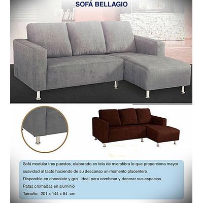 Sofa en tela bellagio en l tienda fisica bs v8mqe for Sofa modular tela