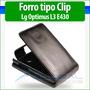 Lg Optimus L3 2 Ii E430 E425 Forro Cuero Estuche Funda Cover | GLOBAL COMERCIOS