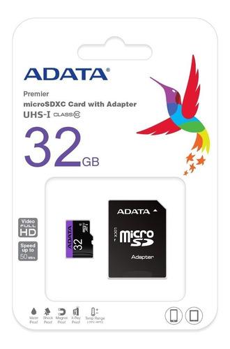 Memoria-32gb-Micro-Sd-Adata-Clase-10-Sdhc-Adaptador-Blister