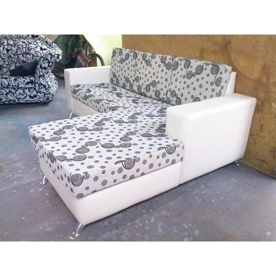 Sofas muebles modernos semicuero chaise somos fabricantes for Precios de sofas modernos