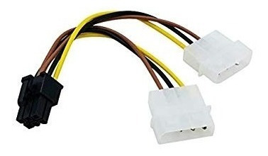 Cable-Adaptador-6-Pin-A-Dual-Molex-2-Und-Gpu-Tarjeta-Video