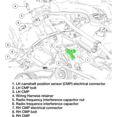 sensor posici u00f3n arbol de levas ford escape fusion v6 3 0l