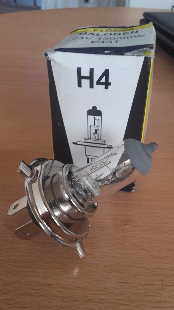 BOMBILLO H4 24V 90/130W TRES CONTACTOS FLOSSER