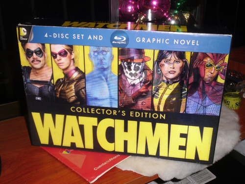 Watchmen Collectors Edition Blu-ray 4-disc + Novela Grafica