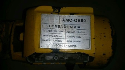 Bomba De Agua Amc Qb60 1/2 Hp (leer Descripción)
