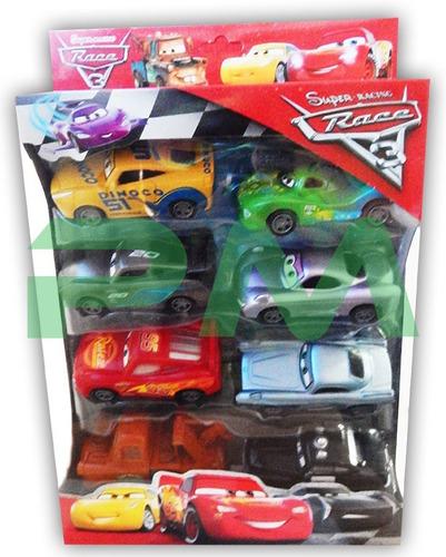 Juego-De-8-Carros-Cars-Set-Carritos-Juguete-Rayo-Mcqueen
