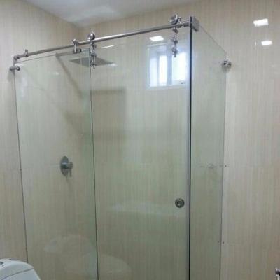 Puertas para ba o en cristal templado en mercado libre for Puerta corrediza para ducha
