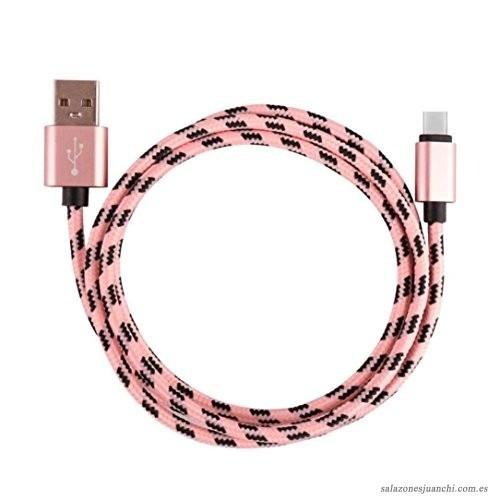 Cable Nylon Datos Cargador Tipo C 2 Metros Oferta
