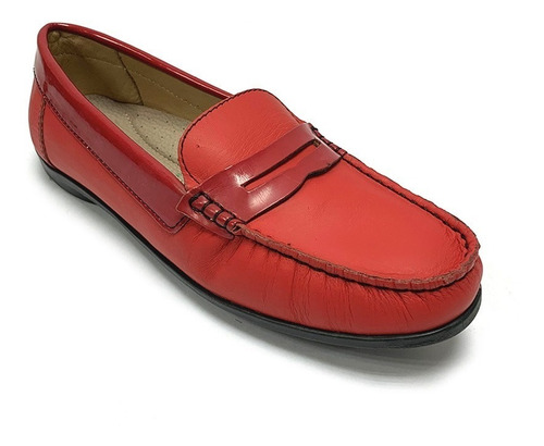 Zapatos Mocasines Full Time Dama Rojo Ft 4401 Corpez 35